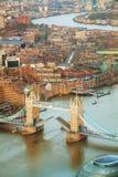 Воздушный обзор города Лондона Стоковые Фото
