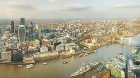 Воздушный обзор города Лондона Стоковые Изображения RF