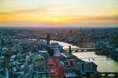 Воздушный обзор Лондона Стоковая Фотография RF