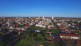 Воздушный отснятый видеоматериал в городе Andradina в положении Сан-Паулу - Бразилии Июль 2016 видеоматериал