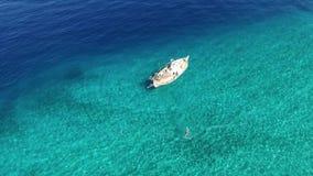 Воздушный отснятый видеоматериал   Изумляя сцена Греции акции видеоматериалы