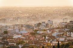 Воздушный панорамный взгляд города Thessaloniki, Греция стоковые изображения rf