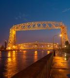 воздушный подъем duluth моста Стоковые Фото