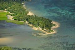 Воздушный пляж Маврикий стоковые фотографии rf