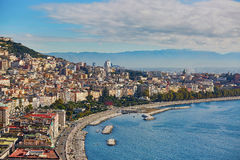 Воздушный сценарный взгляд Неаполь, южной Италии Стоковая Фотография