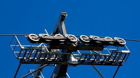 Воздушный трам, фуникулер в парке Стоковая Фотография