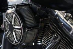 Воздушный фильтр в мотоцикле Стоковая Фотография