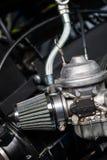 Воздушный фильтр и карбюратор мотоцикла Стоковая Фотография RF