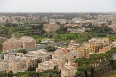 воздушный холм форума colosseum включает взгляд rome palatine Италии римский стоковое изображение rf