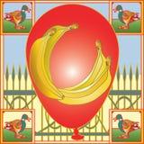Воздушный шар банана Стоковые Изображения