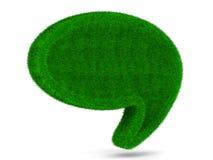 Воздушный шар беседы на белой предпосылке Стоковое фото RF