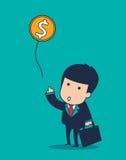 Воздушный шар бизнесмена Стоковая Фотография
