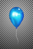 Воздушный шар вектора голубой EPS10 Стоковое фото RF