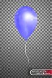 Воздушный шар вектора голубой EPS10 Стоковые Изображения