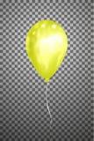 Воздушный шар вектора желтый EPS10 Стоковые Фото