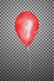 Воздушный шар вектора красный EPS10 Стоковая Фотография