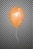 Воздушный шар вектора оранжевый EPS10 Стоковая Фотография