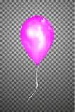 Воздушный шар вектора розовый EPS10 Стоковые Изображения