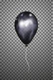 Воздушный шар вектора черный EPS10 Стоковая Фотография