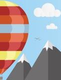 Воздушный шар в небе 2 Стоковые Изображения