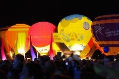 Воздушный шар в ноче Стоковые Изображения