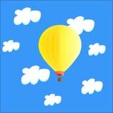Воздушный шар в облаках Стоковое фото RF
