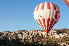 Воздушный шар в Cappadocia Турции Стоковые Изображения RF