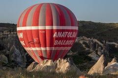 Воздушный шар в Cappadocia Турции Стоковая Фотография
