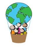 Воздушный шар детей Стоковые Фото