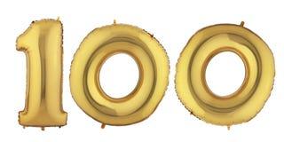 Воздушный шар 100 золота Стоковые Фотографии RF