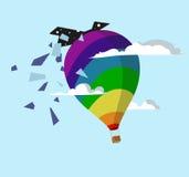 Воздушный шар и небо Стоковое фото RF