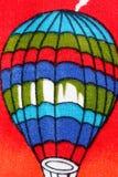 Воздушный шар картины на красочной ткани. Стоковая Фотография RF