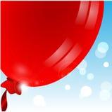 Воздушный шар красного цвета Иллюстрация вектора