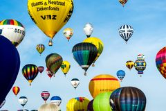 Воздушный шар 2015 Лорена Mondial Стоковое Фото