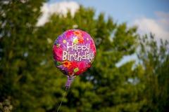 Воздушный шар дня рождения стоковое изображение rf