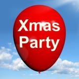 Воздушный шар партии Xmas показывает праздненство рождества иллюстрация вектора