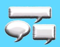 Воздушный шар пузыря сообщения серебряной фольги иллюстрация штока