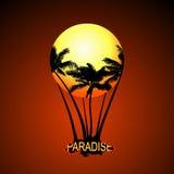 Воздушный шар рая вектор Стоковые Фото