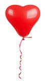Воздушный шар сердца форменный красный Стоковое Изображение RF