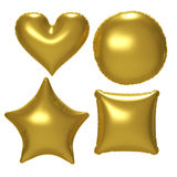 Воздушный шар сусального золота установленный с путем клиппирования Стоковое Изображение