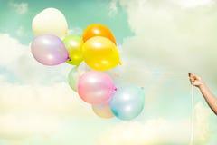 воздушный шар цветастый Стоковое Изображение