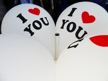 Воздушный шар ` ` я тебя люблю Стоковое Изображение RF