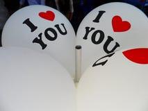Воздушный шар ` ` я тебя люблю Стоковая Фотография RF