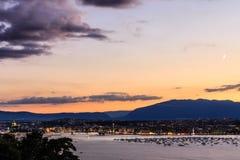 воздушный geneva Швейцария Стоковое фото RF