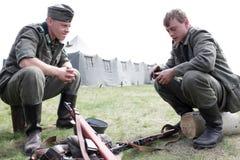 2 воина в немецкой форме Стоковое Изображение