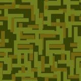 Воинская безшовная картина Текстура армии абстрактная камуфлирование оранжевое Стоковые Фото