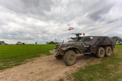 Воинская броневая машина, легковес катила, Miedzyrzecz, Польша Стоковые Изображения RF