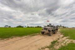 Воинская броневая машина, легковес катила, Miedzyrzecz, Польша Стоковая Фотография RF