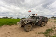 Воинская броневая машина, легковес катила, Miedzyrzecz, Польша Стоковая Фотография