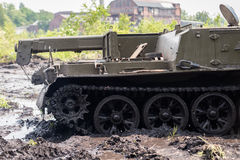Воинская деталь бульдозера Стоковая Фотография